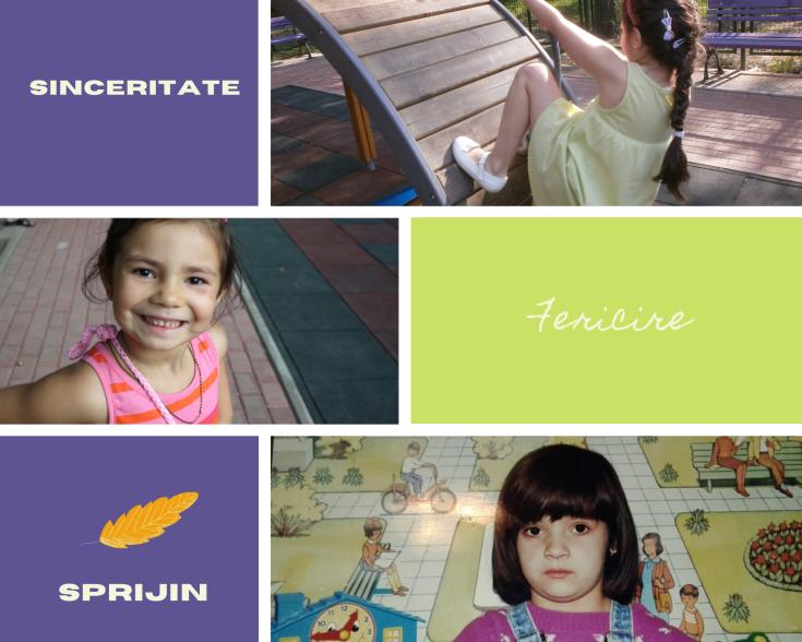 Purple and Orange Kids Halloween Birthday Party Photo Collage
