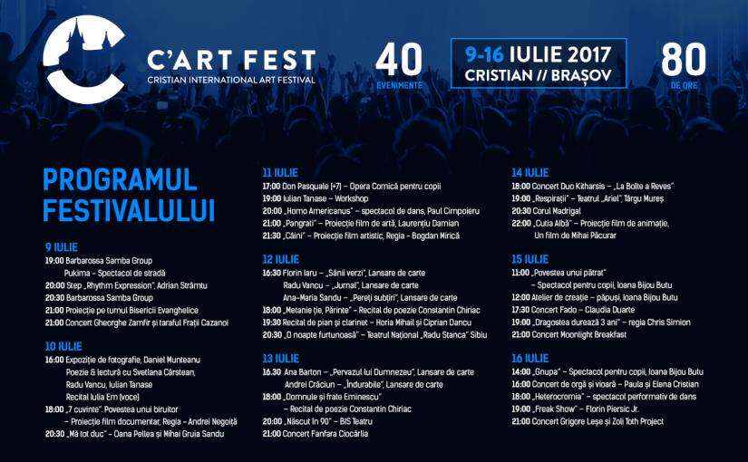 C'Art Fest revine pentru a IV-a oară la Cristian cu multesurprize