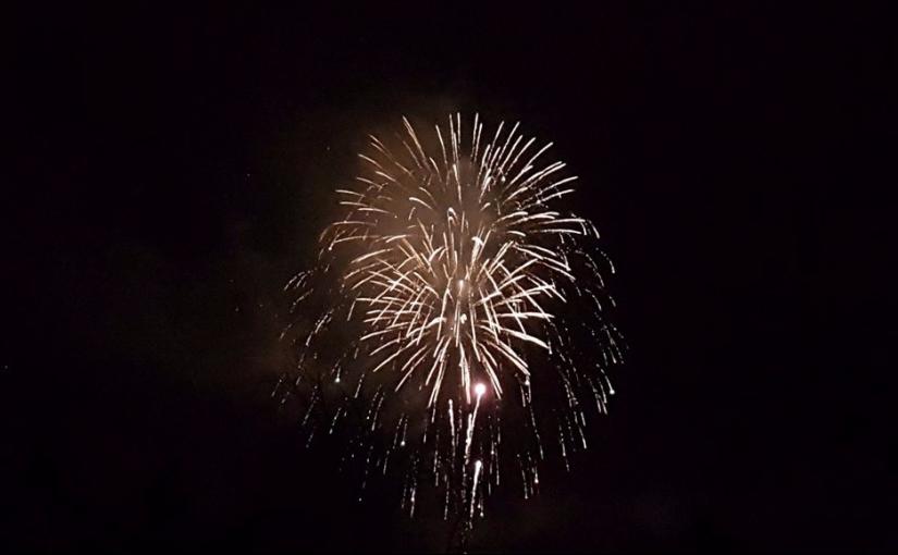 Cum s-au văzut artificiile de la cumpăna dintre ani de pe CetateaBrașov