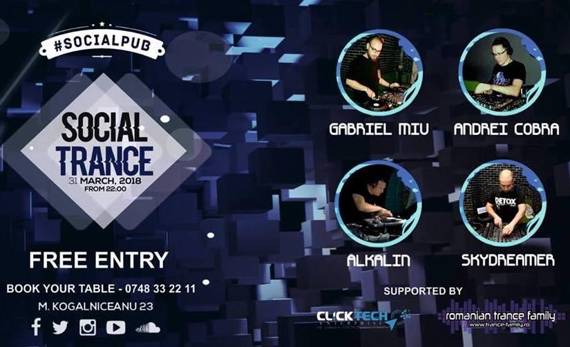 A doua ediție de #SocialTrance revine în Brașov. Sâmbătă seara (31.03) în SocialPub