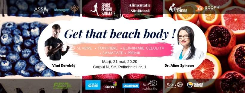Get that beach body cu Vlad Dorobăț și AlinaSpinean